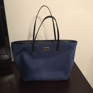 NWOT Kate Spade Navy Blue and Black Nylon Tote